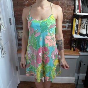 Lilly Pulitzer Silk Floral Strappy Dress Size S